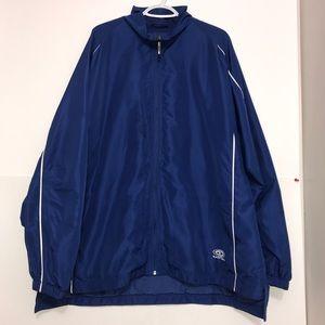 Easton True Blue White Stripe Zip Up Sport Jacket